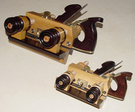 Carpenter plow plane replicas. Smaller one is 2/3 scale.